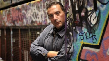 Christos Tsiolkas in an inner Melbourne laneway.