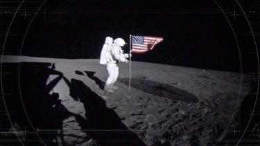 Team of investigators recreate the moon landing.