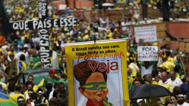 Anti-government protesters make their feelings known across Brazil.