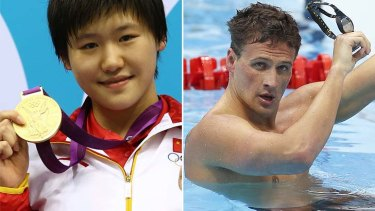 Faster in the final 50m ... 16-year-old Shiwen Ye outpaced America's Ryan Lochte.
