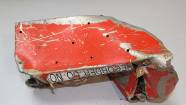 A badly damaged part of the voice data recorder of the Germanwings jetliner that crashed on Tuesday in the French Alps.
