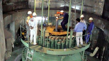 Power plant ... an official Iranian photo of the Bushehr reactor.