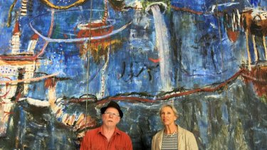 Incredible hulks … Stephen Coburn and and Ann Thomson with Ebb Tide.