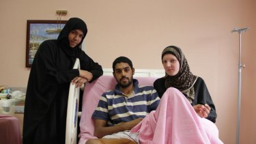 Ahmed Luqman Talib (centre) recovers from gunshot wounds in an Istanbul hospital. <i>Picture: Kate Geraghty</i>