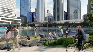 Images of the Elizabeth Quay development will look like, when completed.