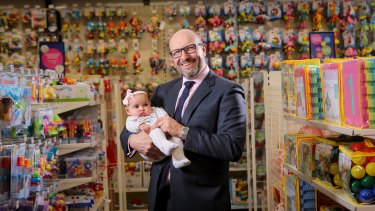 Baby Bunting CEO Matt Spencer said conditions were improving after a flood of liquidated stock hit the market.