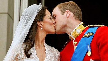 Sealed with a kiss ... but the Chaser were prevented from satirising Prince William and the Duchess of Cambridge's wedding.