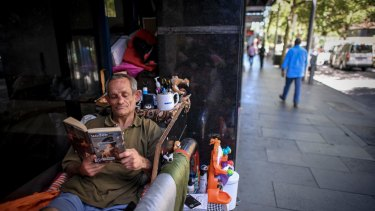 "Bobby, who's set up camp on King Street wonders why authorities don't want to 'find out why people are homeless""."