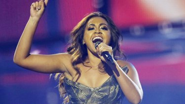 Eurovision star: Australian singer Jessica Mauboy performs during the second semi-final.