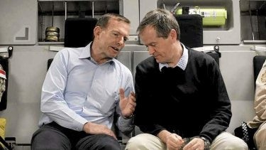 Tony Abbott and Bill Shorten on the flight.