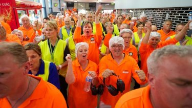 Not being canned: SPC Ardmona workers after the Premier accounced the bailout.