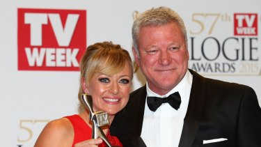 Shelley Craft and Scott Cam at the Logies last year.