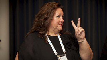 The princess of the Pilbara ... Gina Rinehart.