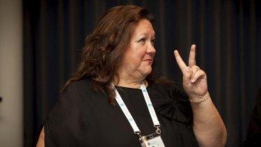 The princess of the Pilbara ... Gina Rinehart.