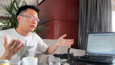 ''Mild combatant'' ... blogger Wu Heng who compiles food-safety reports from across China.