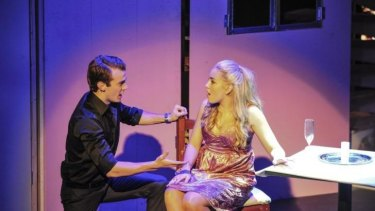 Young lovers: Damon Grebert-Wade, as Warner, and Mikayala Williams, as Elle in Legally Blonde - the Musical.