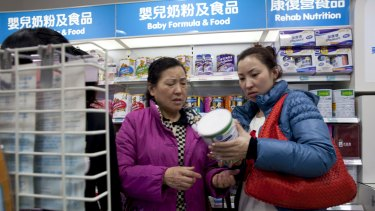 Demand for foreign infant formula has risen in China since 2008, when a Chinese infant formula was contaminated with melamine.