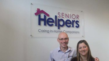 """""""When we saw the Senior Helpers model we appreciated it was something we could manage ourselves"""" ... Peter Morgan and Melissa Byrne."""