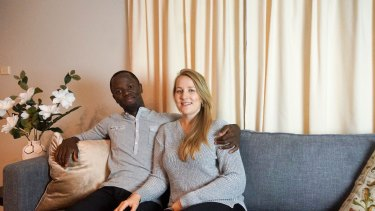Joanna Jablonka, 25, and partner Olivier Lokolomba, 30, are trying to save for a property portfolio and a business.