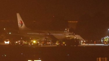 Malaysia Airlines flight MH192 landed safely in Kuala Lumpur.