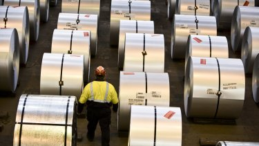 BlueScope Steel reported a 10 per cent lift in revenue to $7.98 billion for the year.
