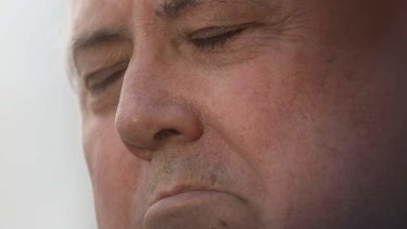Clive Palmer during a press conference in Parliament House on Tuesday. Photo: Andrew Meares