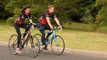 Turia, with partner, Michael Hoskin. Photo: Turia Pitt Facebook