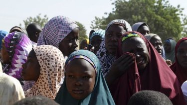 Trying to create an Islamic state ... A woman from Gwoza, Borno State, displaced by the violence caused by the Boko Haram insurgency, weeps at a refugee camp in Mararaba Madagali, Adamawa State.
