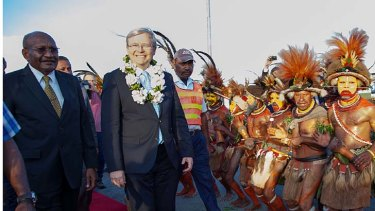 Kevin Rudd's brief trip to PNG ended without any firm agreement on the issue of asylum seekers.