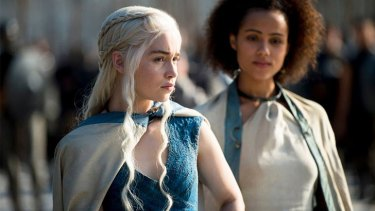 Emilia Clarke stars in the <i>Game of Thrones</i> as Danaerys Targaryan.