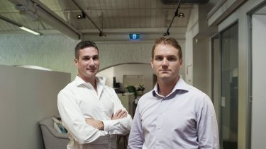 Prospa joint chief executives Greg Moshal (left) and Beau Bertoli say they are in discussions with numerous banks about funding and cross-selling partnerships.