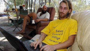 """""""We have plenty of tricks up our sleeve'' … activist Jonathan Moylan had his laptop and mobile phone seized by ASIC this week."""