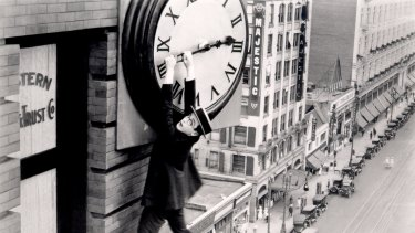 Hanging around: Harold Lloyd in Safety Last!