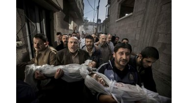 Paul Hansen's photo won World Press Photo of the Year.