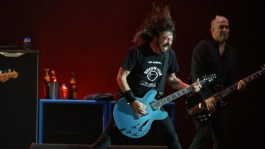 The Foo Fighters will perform in Brisbane on Tuesday night.