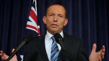 Black marks ... Tony Abbott.