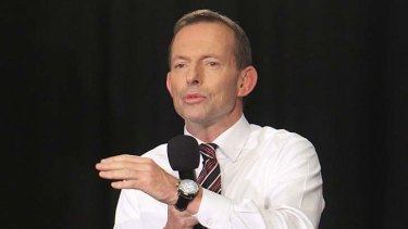 """Tony Abbott ... says he accepts """"we only have one planet and we should tread lightly upon it."""""""