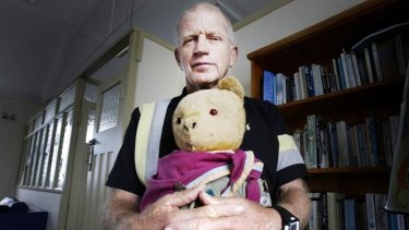 Bear necessity: Author Roland Fishman with his beloved teddy bear Ted Fishman.