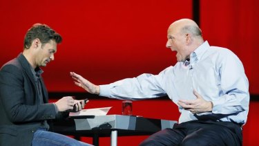 Microsoft chief executive Steve Ballmer.