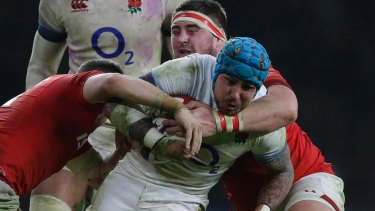 Gritty win: England toughed it out against Wales.