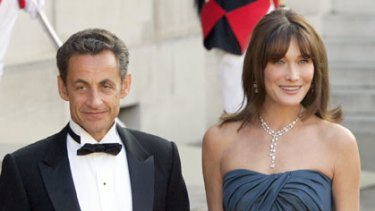 Beauty and the least ... rumours that Nicolas Sarkozy and Carla Bruni-Sarkozy have split.