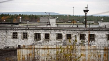 A handout picture released by Greenpeace International shows a general view of the pre-trial detention centre in the city of Apatity, where some of the jailed Greenpeace activists are held.