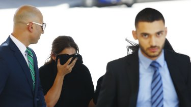 Sanaa Derbas appearing in court earlier this month.