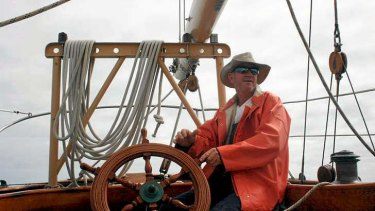 This undated photo provided by the St Andrews Historic Seaport and Commercial Marina in Panama City, Florida, shows American David Dyche, skipper of the 21-metre vessel Nina.