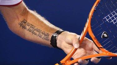 Inspiration: Stanislas Wawrinka's tattoo.