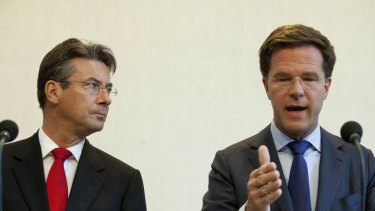 Dutch Prime Minister Mark Rutte (right) and Deputy Prime Minister Maxime Verhagen.