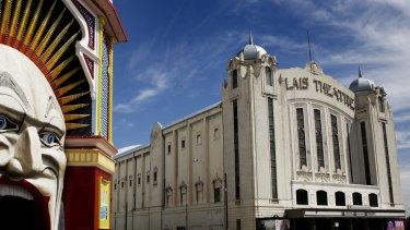 St Kilda's iconic Luna Park and Palais Theatre.