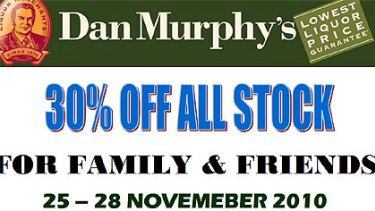 The fake email that purports to offer big discounts at Dan Murphy's stores.