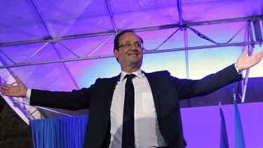 New man at the helm ... Francois Hollande.