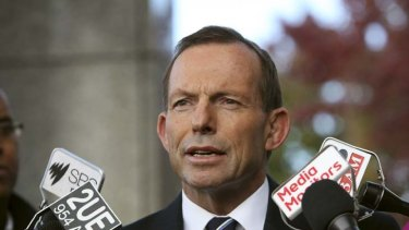 Future focus ... Tony Abbott wants six months full paid leave for new mothers.